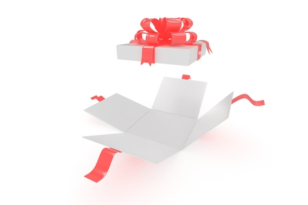 open gift box: open gift box on white background