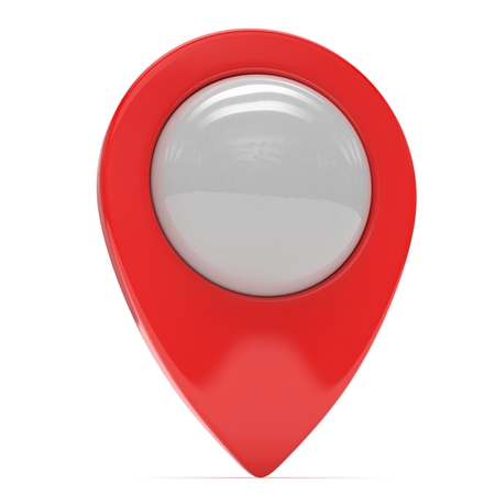 red  pointer: red map pointer isolated