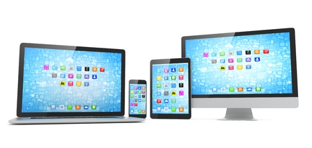 Responsive web design, laptop, smartphone, tablet, computer, display