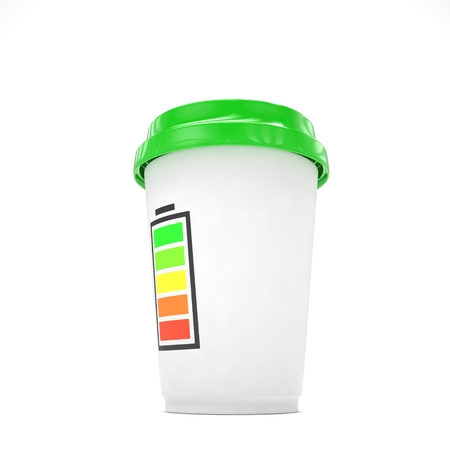 coffee to go: Coffee to go on white. 3D rendering. Stock Photo