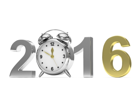 end of the days: New year 2016 concept. 3D rendering.