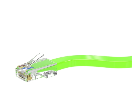 ethernet: wire rj-45 on a white background, isolated. 3D rendering.