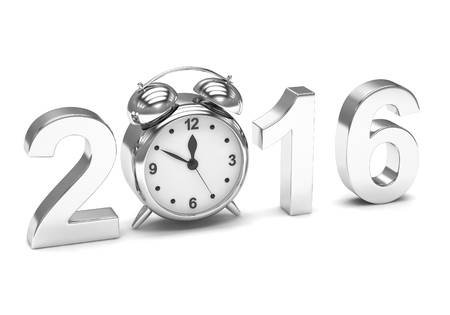 end of the days: New year 2016 concept. 3d rendering. Stock Photo