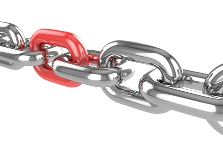 steel chain: 3d render stainless steel chain Stock Photo
