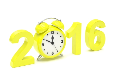 end month: New year 2016 concept. 3d rendering. Stock Photo
