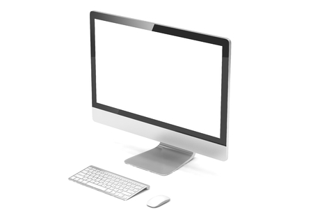 screen: Modern Screen Monitor. 3d rendering.