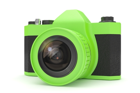 viewfinder vintage: Retro camera isolated on  white background. 3d rendering.