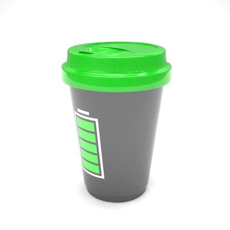 coffee to go: Coffee to go on white. 3d rendering.