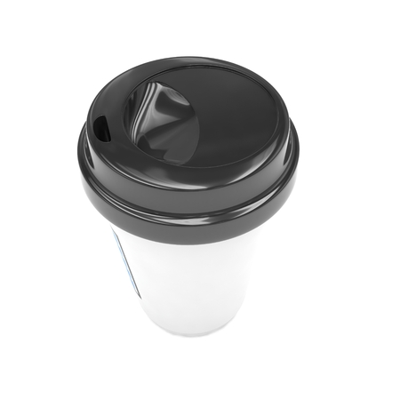 take out food container: Coffee to go on white. 3d rendering.