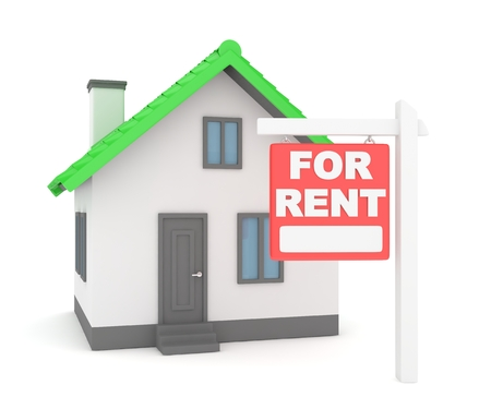 white person: Miniature model of house real estate for sale on white background. Agency sale. 3D rendering.
