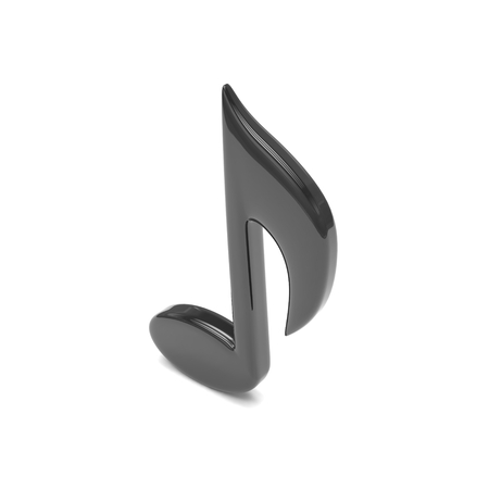 chord: music note, on white. 3d rendering.