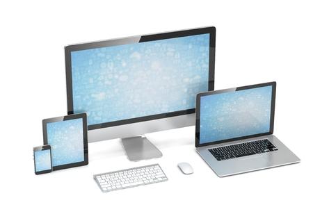 ultimate: Ultimate web design, laptop, smartphone, tablet, computer, display. 3d rendering.
