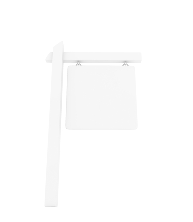 guide board: Information sign pole on white background. 3D rendering. Stock Photo
