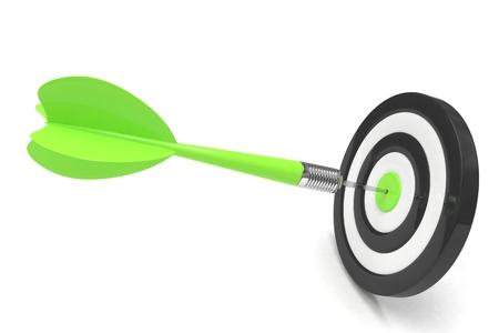 dart board: arrow darts in target. 3d rendering. Stock Photo