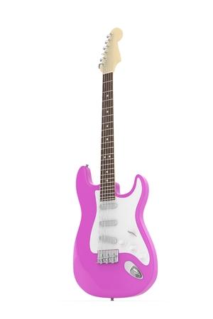 Isolierte Lila Elektrische Gitarre Auf Weißem Hintergrund ...