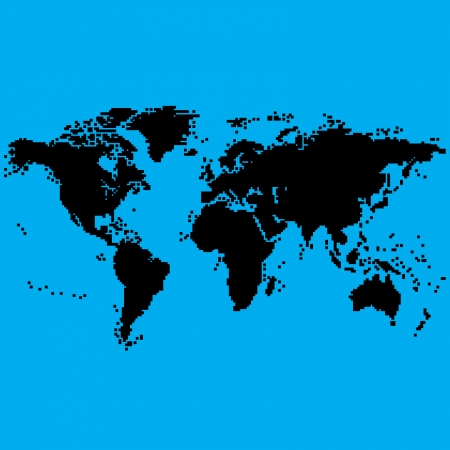 World Map In 8bit Royalty Free Cliparts Vectors And Stock