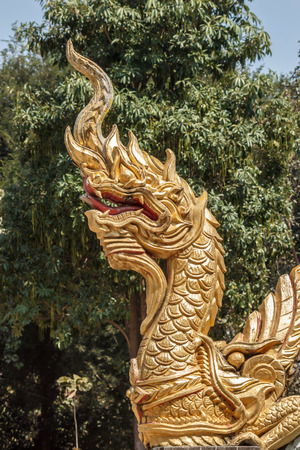 Naka or Thai dragon stair   photo