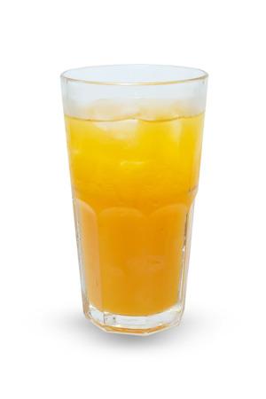 Orange juice, isolated on white . photo