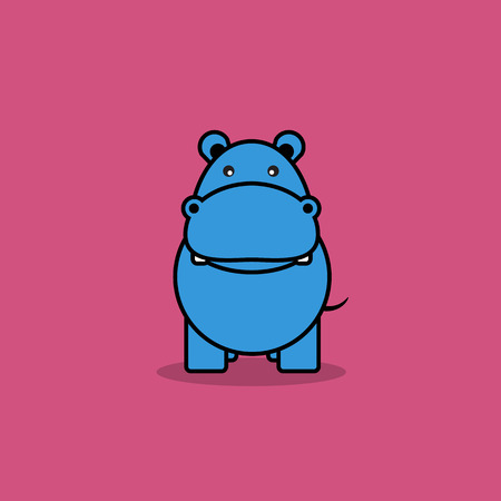 hipopotamo caricatura: Historieta linda del hipop�tamo.