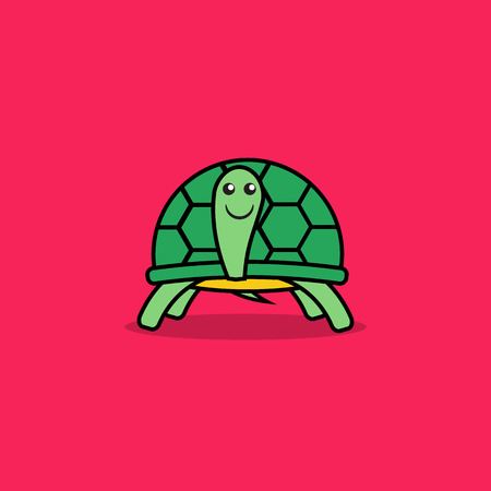 turtle isolated: Cute turtle cartoon. Illustration
