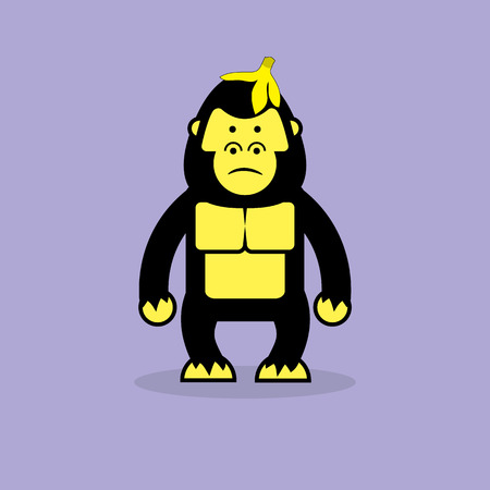 gorila: Historieta linda del gorila.