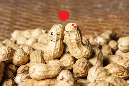 about you: I am nut about you. Stock Photo
