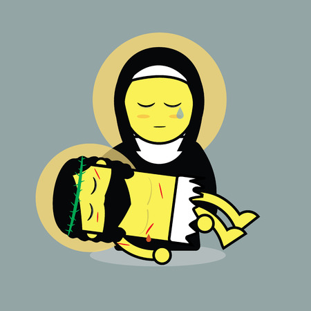 holy mary: Jesus died on mary Illustration