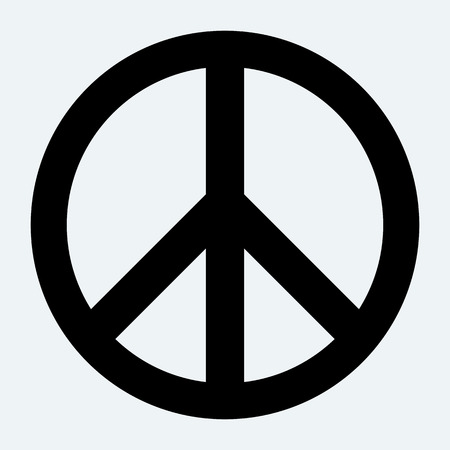 peace symbols: Peace sign. Illustration