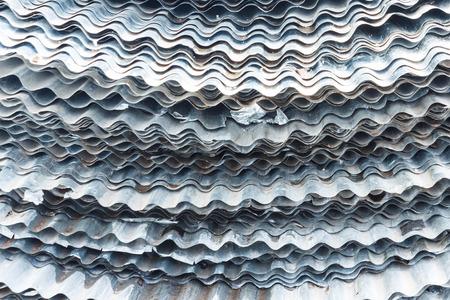 corrugated steel: Zinc background.