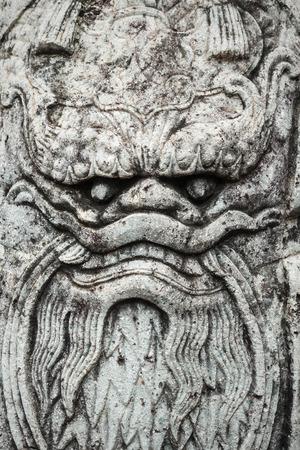 ballast: Dragon head on ancient Chinese ballast doll. Stock Photo