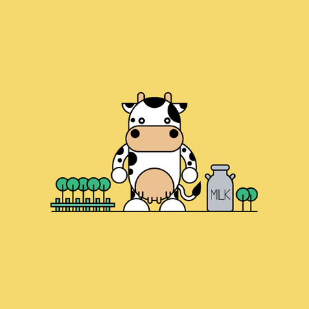 cute cow: Cute cow. Illustration
