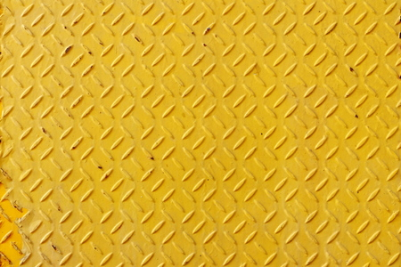 Old Yellow Diamond Plate Background.