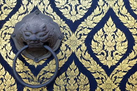 door knob: Old Metal Latch on Church Door.