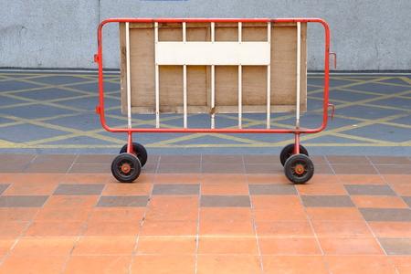 Portable Fence. Stock Photo