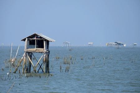 Landschap van Bang Ta Boon Bay. Stockfoto