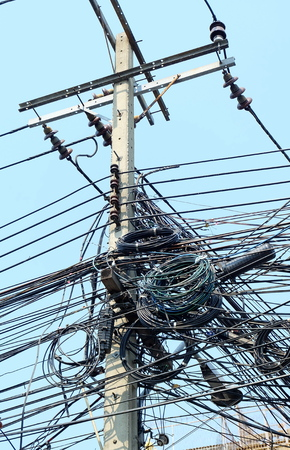 mess: Messy Electrical Wires.