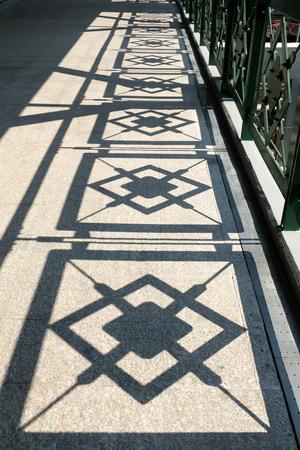 diamond shaped: Shadow Fence On Ground.