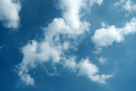 Blue Sky with Cloud Background. Imagens
