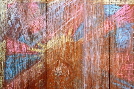 Rubbed Chalk Strain on Old Wood Wall Background. Stock Photo