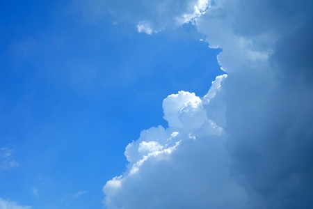 Blue Sky with Cloud Background. Stock Photo
