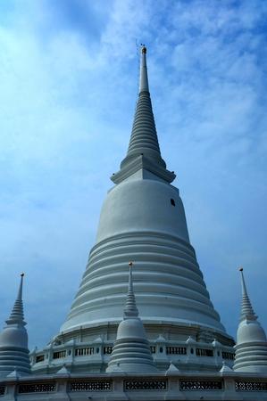 Ancient White Pagoda at Wat Prayun Temple.