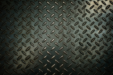 Black Metal Diamond Plate Background. Stockfoto