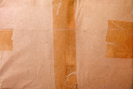 Close-up Brown Parcel Background.