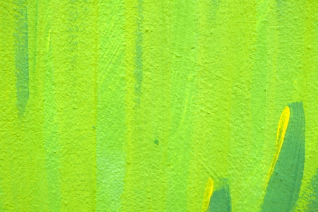Unfinished Green Painting on Concrete Wall Texture Background.
