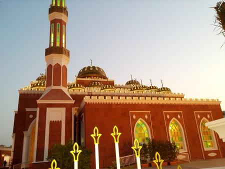 emirates: Al Salam Mosque AL Barsha Dubai United Arab Emirates Editorial