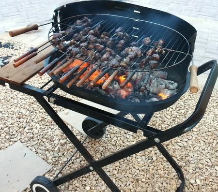 kabab: Kabab in Grill