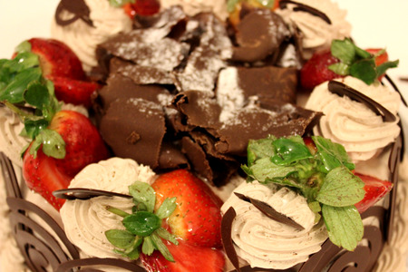 choco: cake with choco pieces