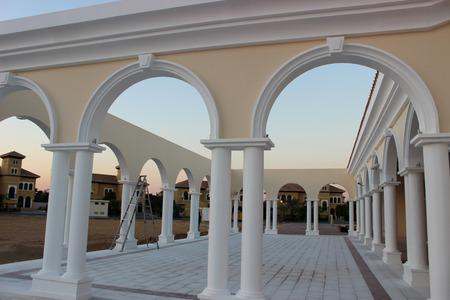 whote: Pillars Stock Photo