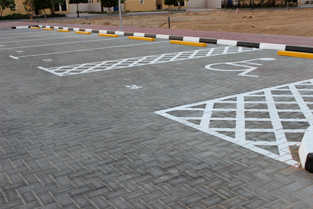 Parking lot with disabled photo