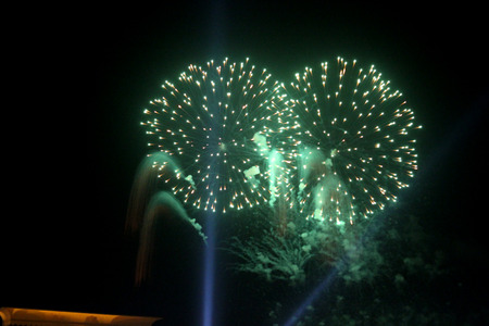 12 oclock: colorful fireworks